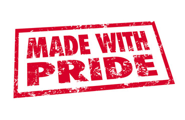 Made With Pride Red Stamp Hand Manufactured Product