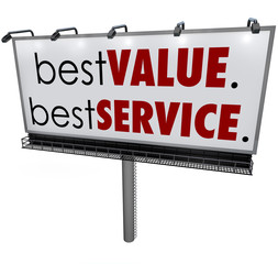 Best Value Service Billboard Sign Top Choice Advertising