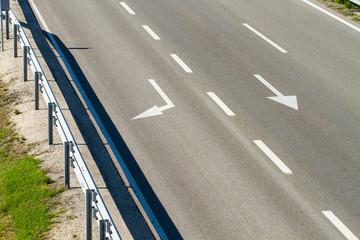 empty freeway road