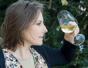 dégustation d un vin blanc