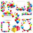 Obrazy na płótnie, fototapety, zdjęcia, fotoobrazy drukowane : Big vector birthday set