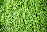 Fagiolini verdi freschi al mercato