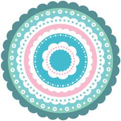Circular cute ornament