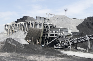 Conveyor belt in a Coal depot