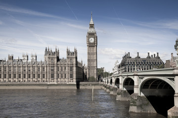 Big Ben and Houses of parliament on the river Thames