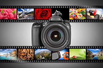 dslr camera concept