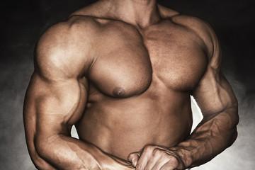 Strong male bodybuilder