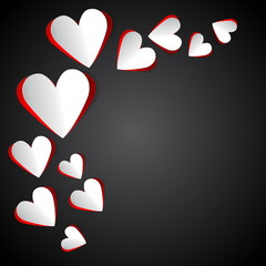 Paper Hearts for love Background - Design Template