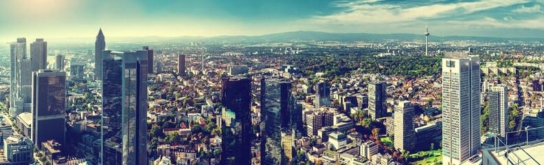 Panoramic view of Frankfurt am Main city. Germany