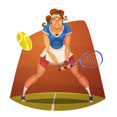 Tennis player. Vector image