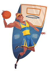 Basketball player. Vector image