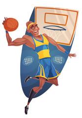 Basketball player. Vector image
