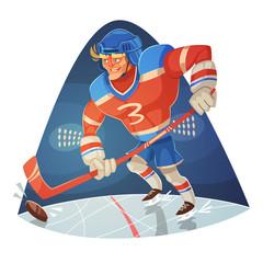 Hockey player. Vector image