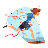Runner. Sporting Achievement. Vector image poster