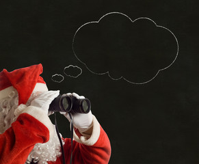 Father Christmas Business Strategy idea thought bubble