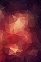 Red abstract polygonal background.