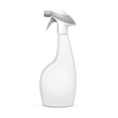 Spray Pistol Cleaner Plastic Bottle On White Background
