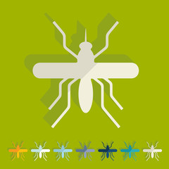 Flat design: mosquito