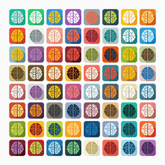 Flat design: brain