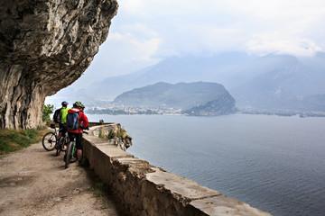 Biking at Garda lake