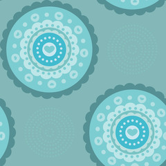 Seamless flower vlue background pattern in vector