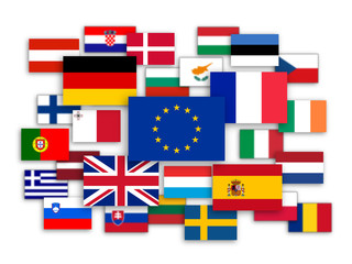 EU Jigsaw (member states flags 28 France Germany UK)