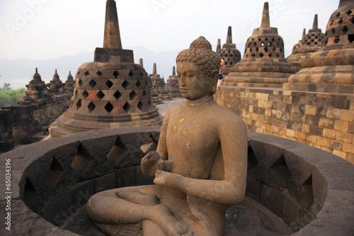 Leinwanddruck Bild Borobudur Temple Yogyakarta, Java, Indonesia.
