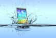 Leinwanddruck Bild - waterproof smartphone