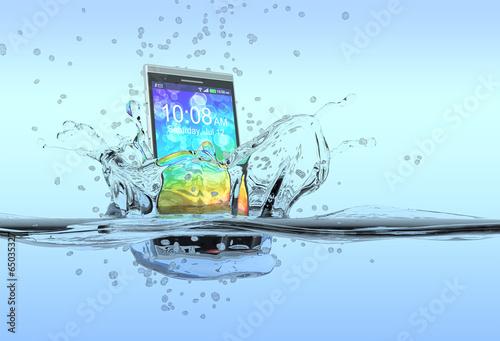 Leinwanddruck Bild waterproof smartphone