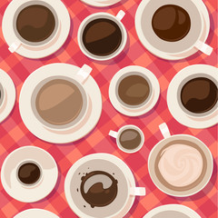 Coffee seamless pattern. Vector image