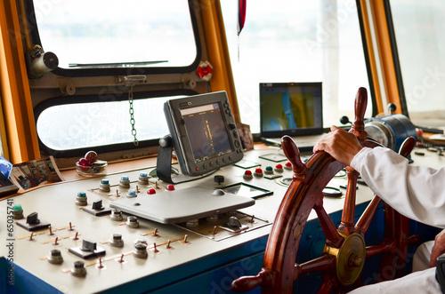 Tuinposter Jacht Ship navigation