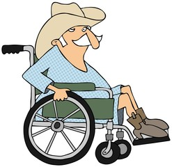 Cowboy in a wheelchair