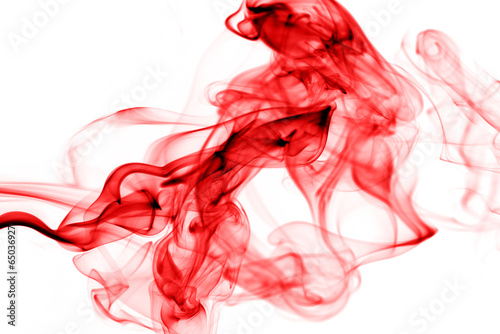 In de dag Rook Colorful smoke on the white background