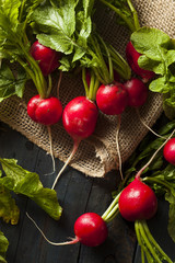 Organic Raw Red Radishes