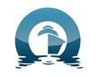 Leinwanddruck Bild - global boat logo wind sea travel cruise sailboat beach