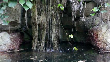 Monchique pure fresh mountain water stream. Algarve. Portugal