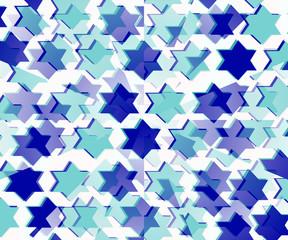 sfondo con stelle azzurre