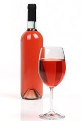 Vino rosè con calice