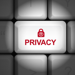 privacy policy concept with computer keyboard