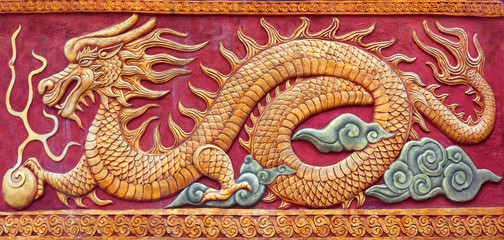 Chinese dragon mural