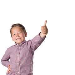 Proud Boy thumb up, isolated