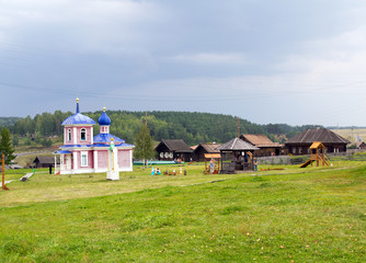 Russian village. Rural landscape