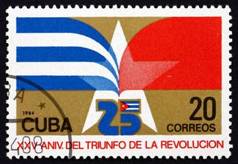 Postage stamp Cuba 1984 Star, Revolution