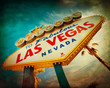 Famous Welcome to Las Vegas sign with vintage texture - 65041908