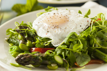 Healthy Scafata with a Poached Egg