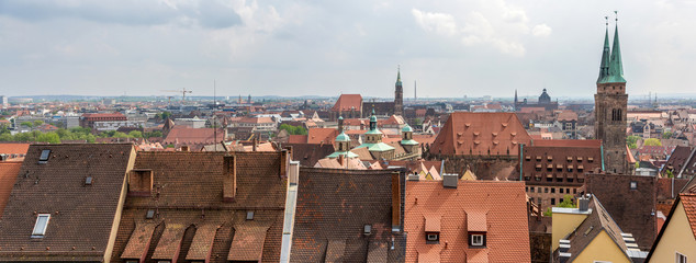 View of Nuremberg from the castle