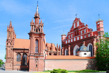 St. Anne's and Bernardinu Church in Vilnius city