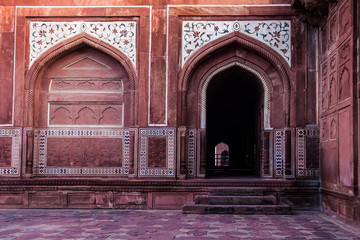 Red Arches and Doorways with Marble Inlay Designs