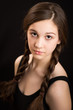 Beautiful Brunette Girl With Plaits