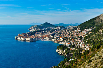 View of Dubrovnik in Croatia with a beautiful Landscape